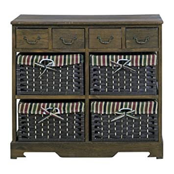Mobili Shabby Country.Rebecca Mobili Chest Of Drawers 8 Drawers Wooden Paulownia