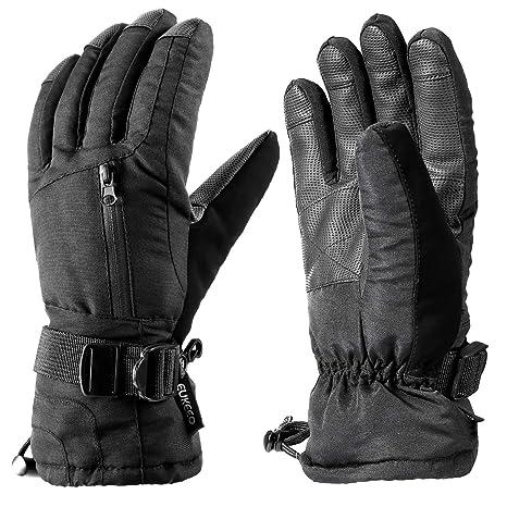 enkeeo guanti da sci  ENKEEO Guanti da Sci, Guanti per Sport Invernali, Impermeabile ...