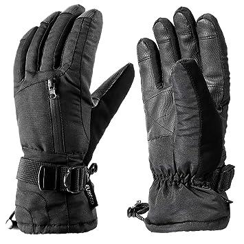 b1ea4907be ENKEEO Skihandschuhe Winter Sporthandschuhe Schi Handschuhe Winddicht  Wasserdicht Rutschfest Atmungsaktiv für Damen und Herren (L