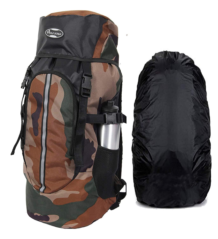 POLESTAR 44 Ltr Rucksack With Rain Cover For Trekking Hiking Travel Backpack $8.63 Coupon