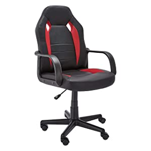 Amazon Basics Racing/Gaming Style Office Chair - Red