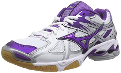 buy online 7951d 29169 Mizuno Women s Wave Bolt 4 Multisport Indoor Shoes, Multicolour -  Mehrfarbig (White Pansy