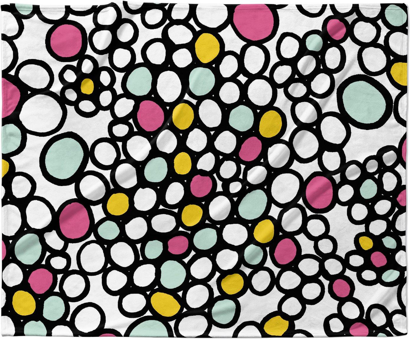 KESS InHouse Emine Ortega 'Pebbles Pink' Fleece Baby Blanket, 40' x 30'
