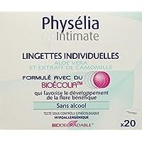 Physelia Lingettes Individuelles Hygiène Intime x 20 Lot de 2