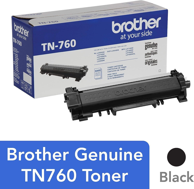 Brother TN-760 DCP-L2510 2530 L2550 HL-L2310 L2350 L2370 L2375 L2390 L2395 MFC-L2710 L2713 L2715 L2730 L2750 Toner Cartridge (Black) in Retail ...