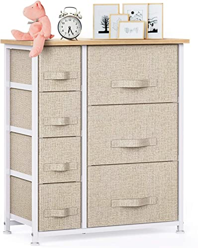 7 Drawer Fabric Dresser Storage Tower
