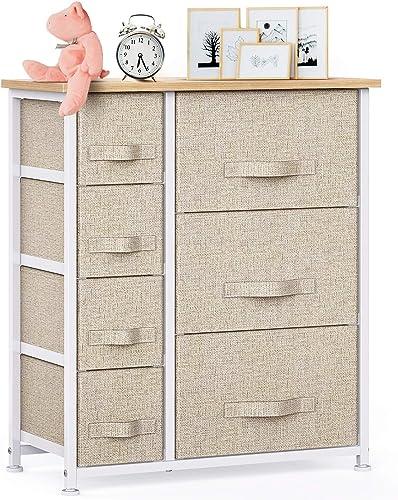 7 Drawer Fabric Dresser Storage Tower