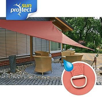 sunprotect 83252 Waterproof Toldo / Vela de Sombra, 3.6 x 3.6 m, Triángulo, roja: Amazon.es: Jardín