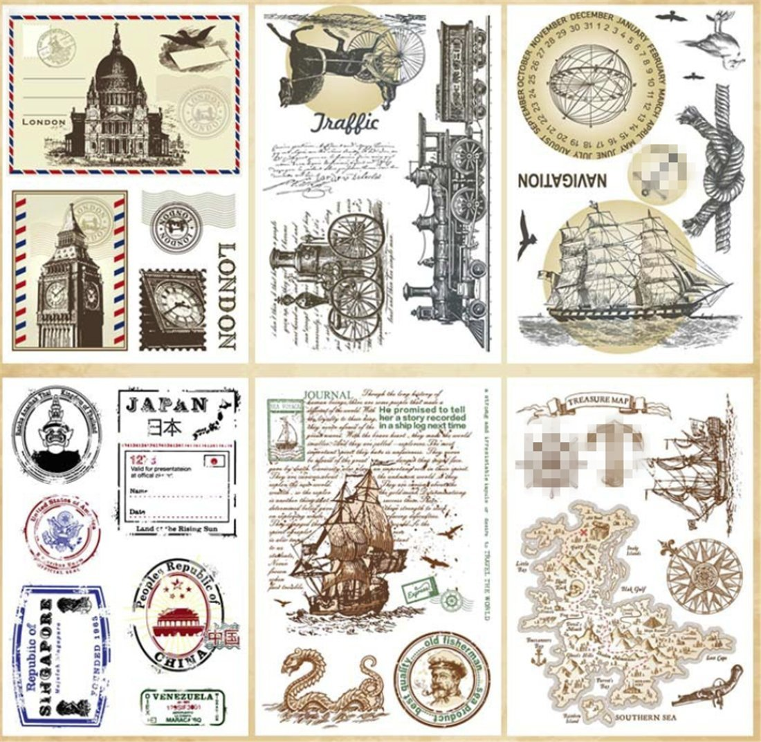 Layhome Stamping Silicone Clear Stamp Cards Making Steampunk era