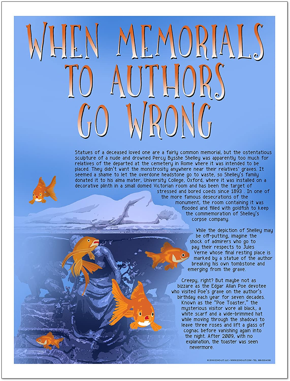 Wheatley Poe more Dickinson English Literature Art Prints Famous Author Mini Educational Poster Series Salinger Shakespeare Vonnegut Featuring: Kerouac