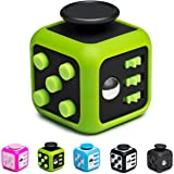 Fidget Cube by iProudAmerican + Silicone Frame - Relieves Stress - for Adults and Kids | Fidget Toy for ADHD / ADD / OCD / Autism / Anxiety / Depression