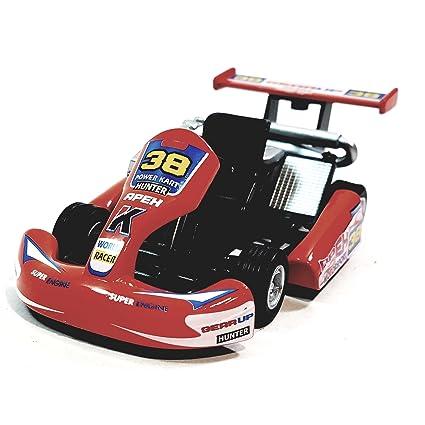 "Kinsmart Orange #38 Hunter Motorsport Turbo Go Kart 5"" Diecast Vehicle"