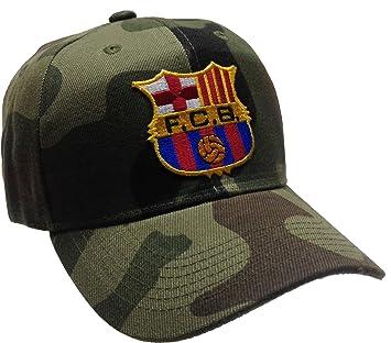 Fcb FC Barcelona Gorro Camuflaje Gorra de balón de fútbol: Amazon ...
