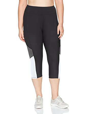a8fe751f8f794 Just My Size Women s Plus Size Active Pieced Stretch Capri at Amazon Women s  Clothing store
