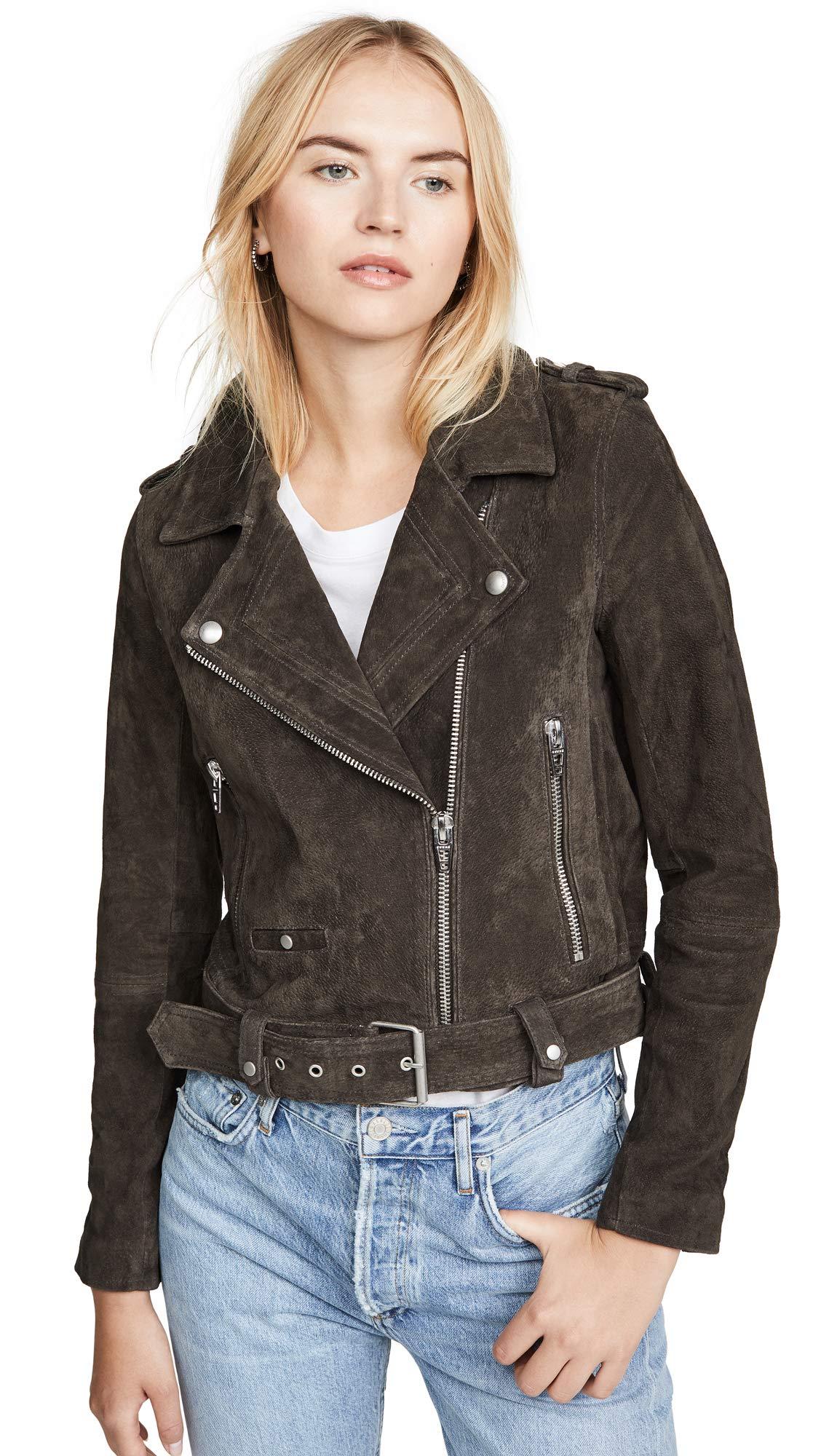 [BLANKNYC] Women's Suede Moto Outerwear, Shadow Grey, XS by [BLANKNYC]