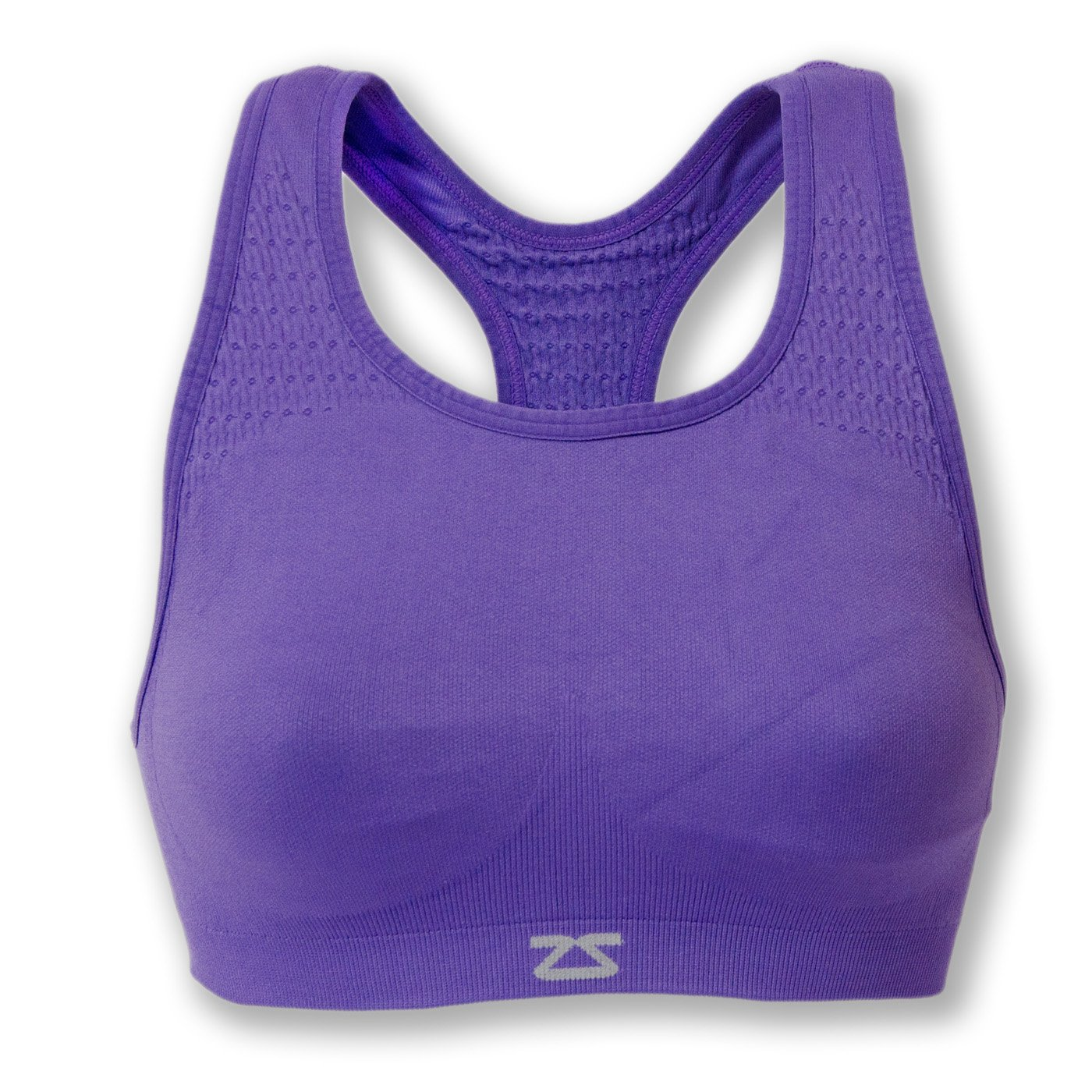 Zensah Seamless Sports Bra - Best Sports Bra for Running, Comfortable Sports Bra,Purple,Medium/Large by Zensah