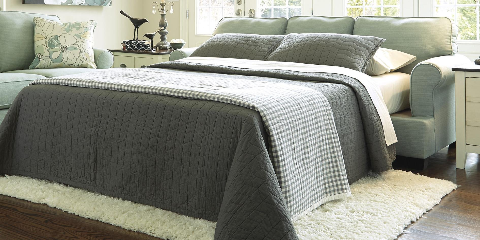 Signature Design by Ashley Daystar Seafoam Queen Sleeper Sofa by Signature Design by Ashley