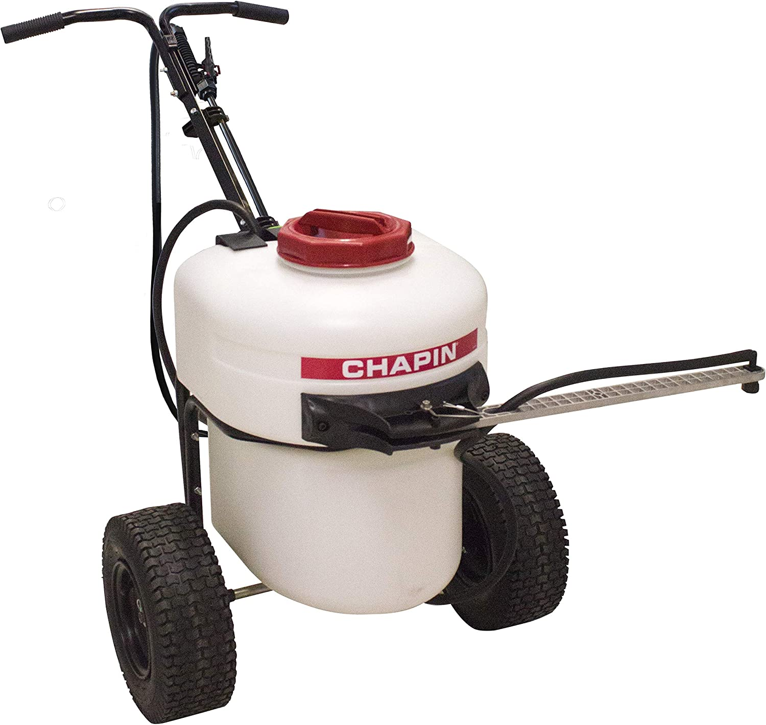 Chapin 97902 12 Gallon Battery Operated Push Sprayer, Translucent White