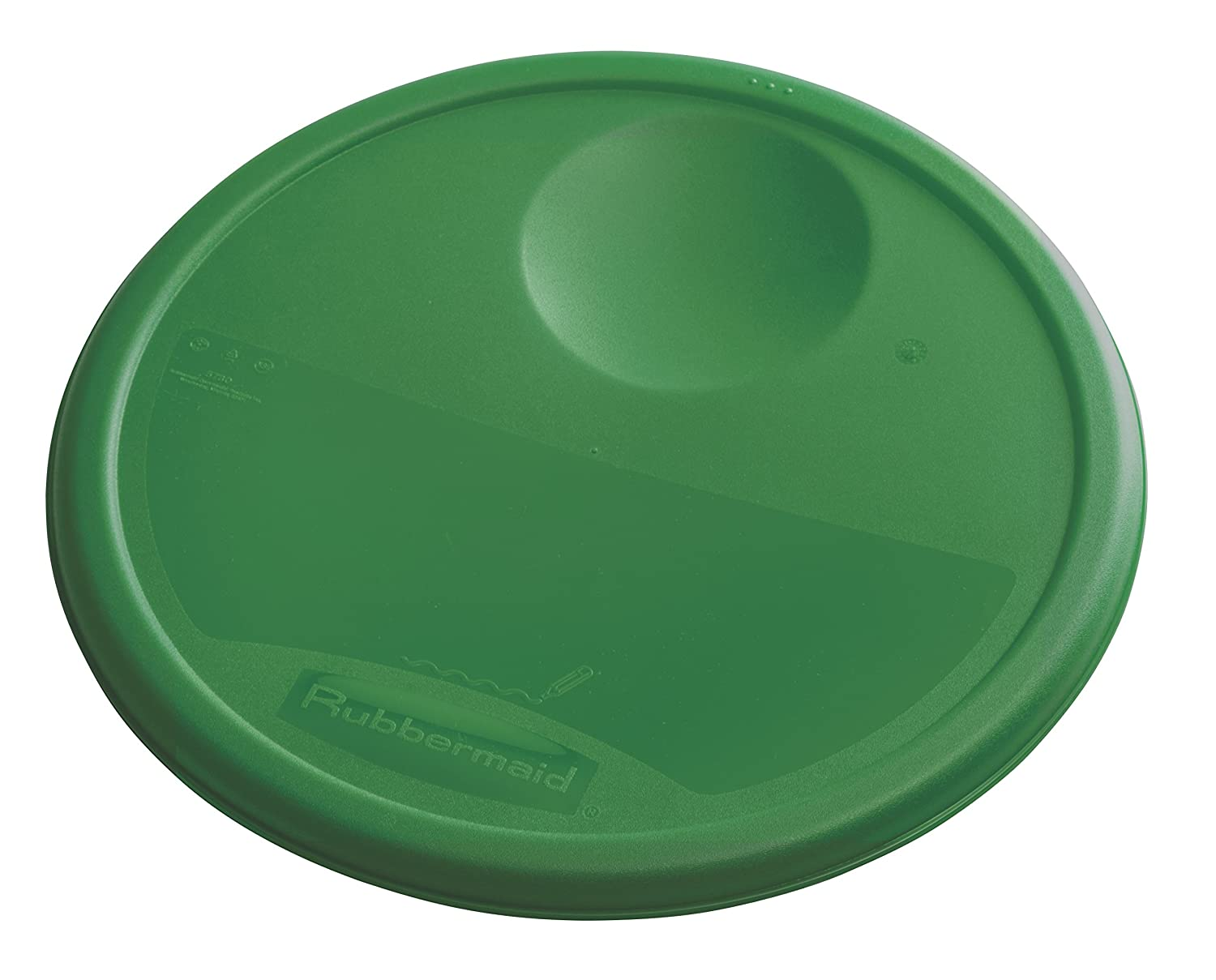 Rubbermaid Commercial Lid (Lid Only) for Round Food Storage Container, Fits 12 Qt. Containers, Green (1980388)