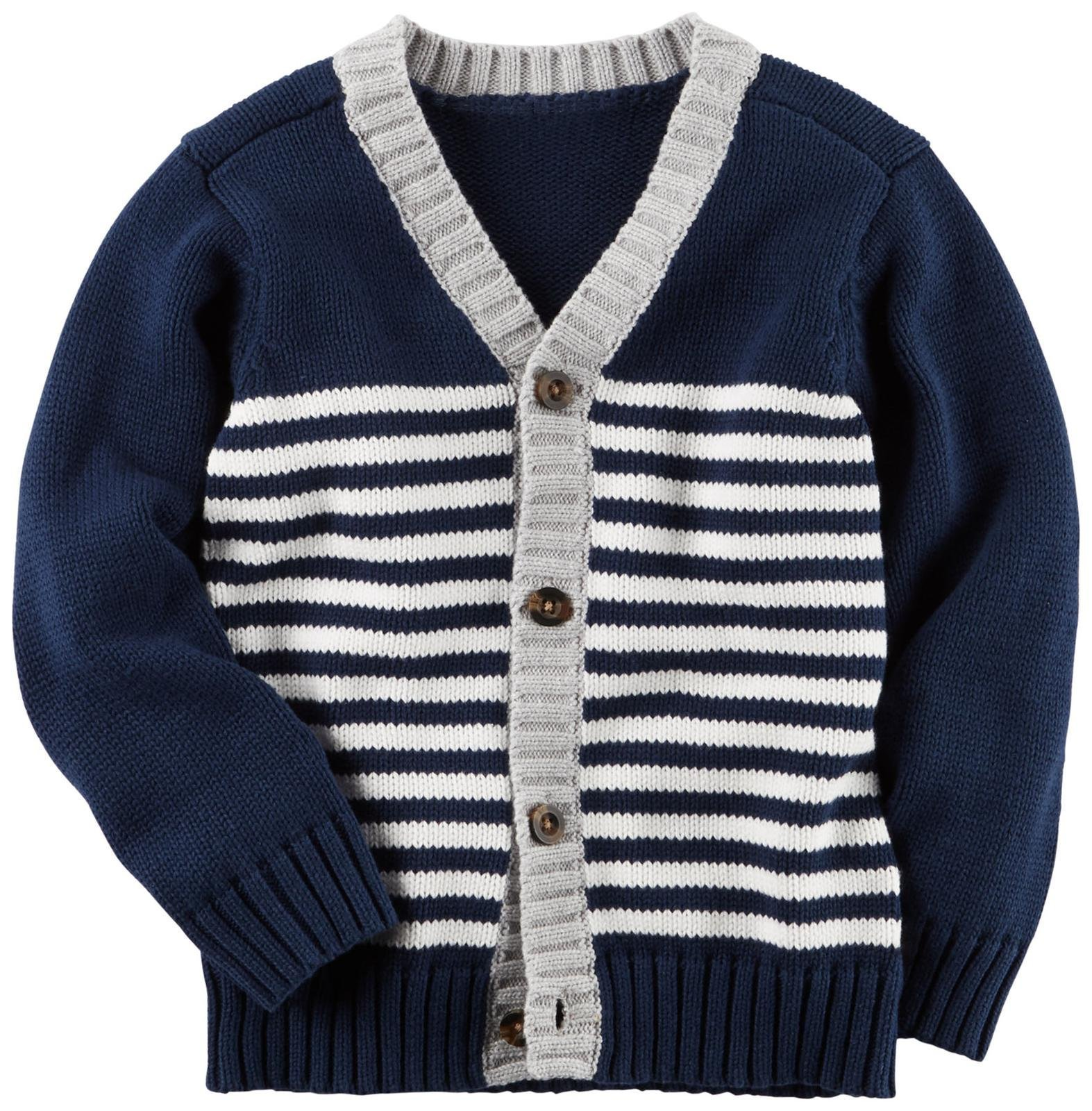 Carter's Boys' Sweater 243g870, Stripe, 2T