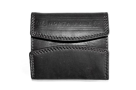 01cdbae5af portafoglio piccolo con portamonete da uomo NORTH POLE NPW628 in vera pelle  (NERO)