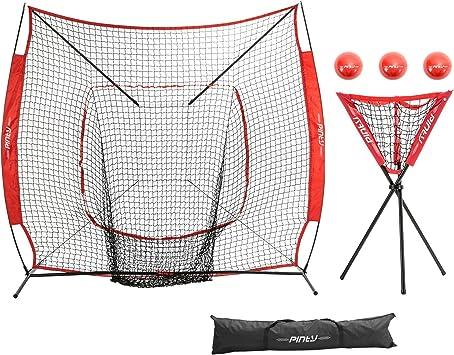 Red de práctica de béisbol y pelota de softball, con bolsa de ...