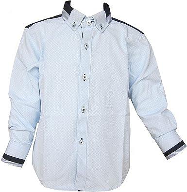 Niños Formal Camisa Con Manga Larga Cuello Abotonado Camisa Azul Dominic Stefano 2-12 AÑOS: Amazon.es: Ropa y accesorios