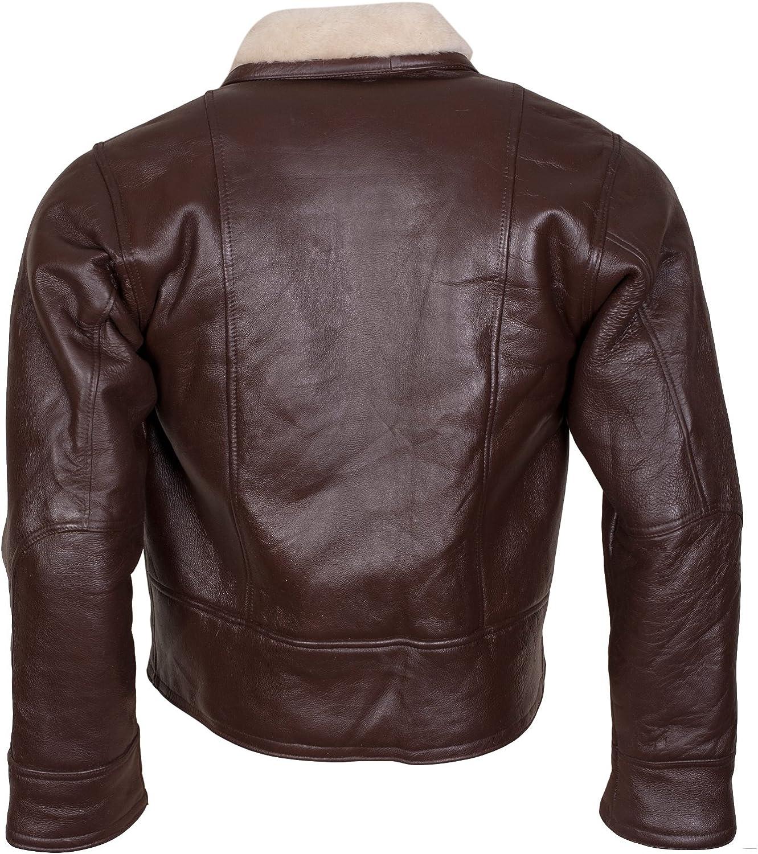 Aviation Style Vintage Bomber Jacket in Dark Brown for Men