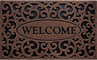 product image for CleanScrape Welcome Iron Coffee Door Mat, 18-Inch by 30-Inch