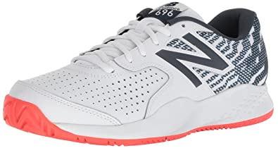 New Balance Mens 696v3 Hard Court Running Shoe, White, ...