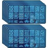Gosear 10 PCS Nail Stamping Image Plates Manicure Designs Polish Art Stamping Plate Nail Art Stamp Plate