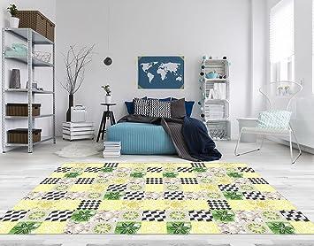 Vinyl Fußboden Auf Fliesen ~ Pvc vinyl fussboden fußboden boden teppich matte forwall gelbe