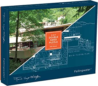 Frank Lloyd Wright Fallingwater 2-Sided 500 Piece Puzzle