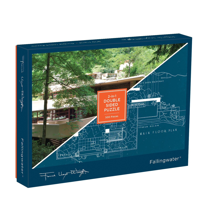 Galison Frank Lloyd Wright Fallingwater 2-Sided Puzzle (500 Piece)
