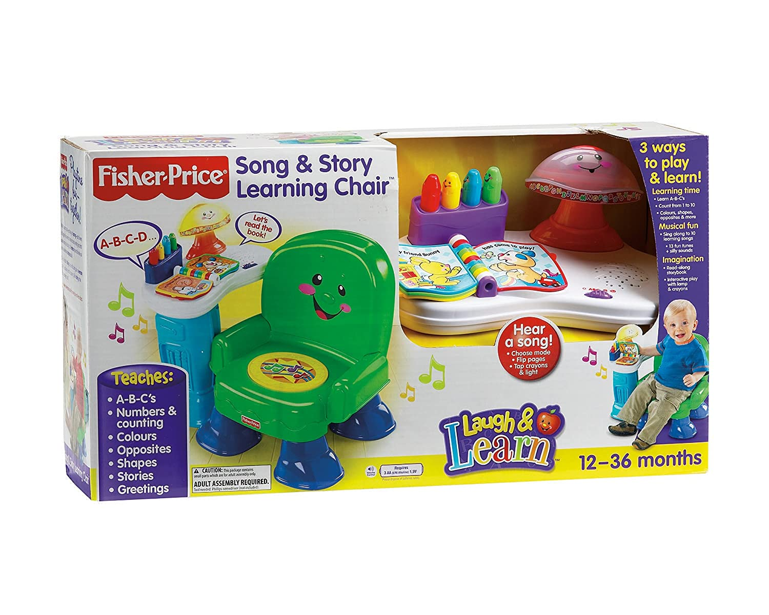 Amazon.com : Fisher Price Laugh U0026 Learn Musical Activity Chair   Green. :  Early Development Activity Centers : Baby
