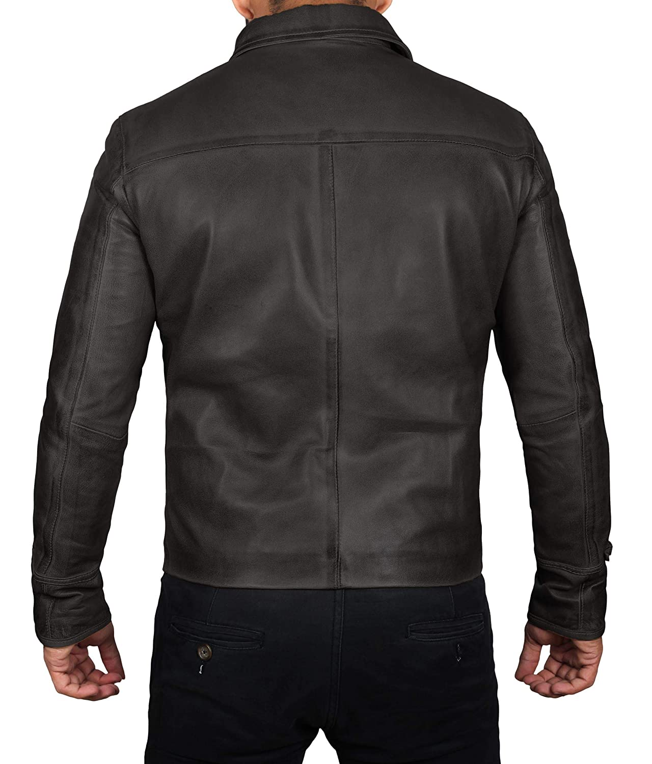 Leather Jacket for Men - Genuine Lambskin Mens Leather Jackets