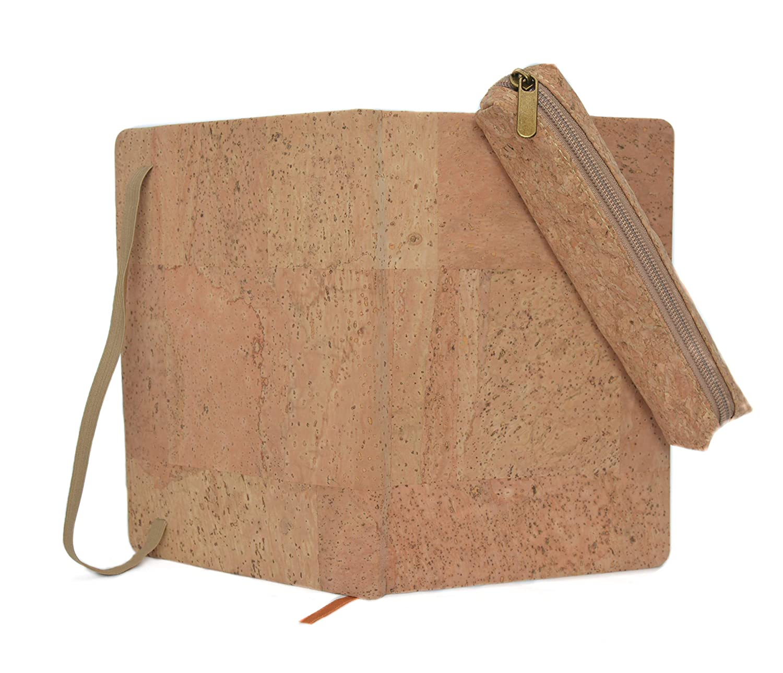 Pack cuaderno corcho natural + estuche de corcho prensado (Natural)