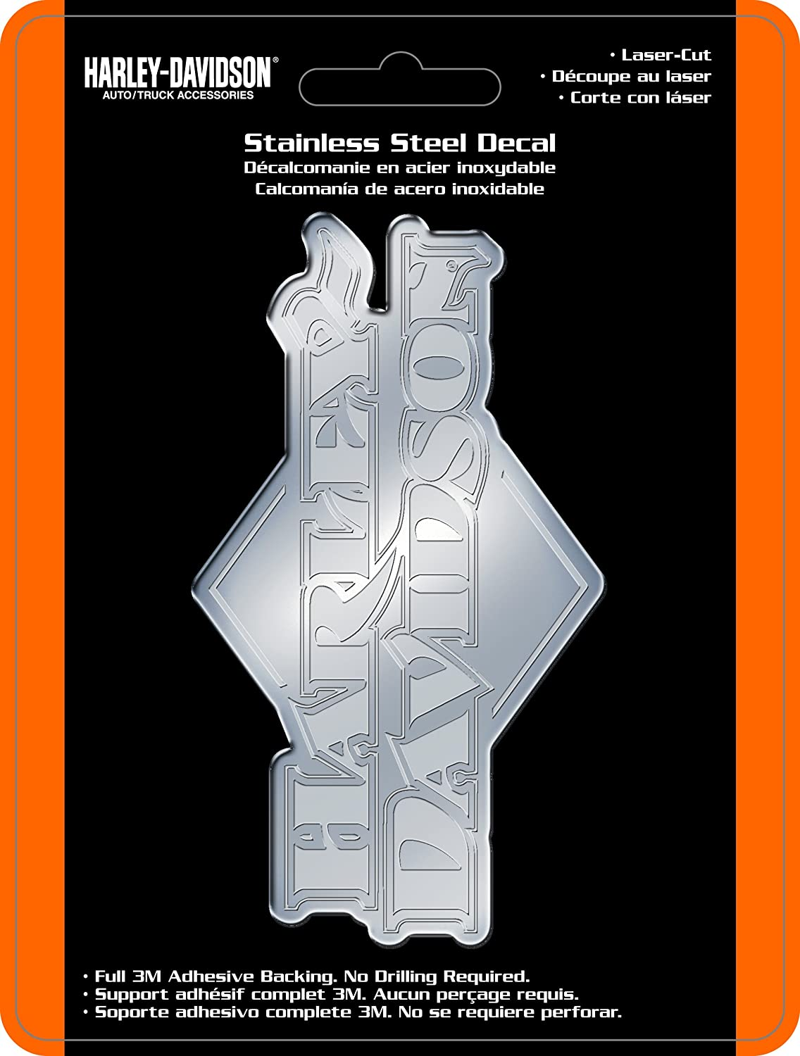 Amazon com chroma 1208 stainless harley davidson emblem decal harley davidson automotive