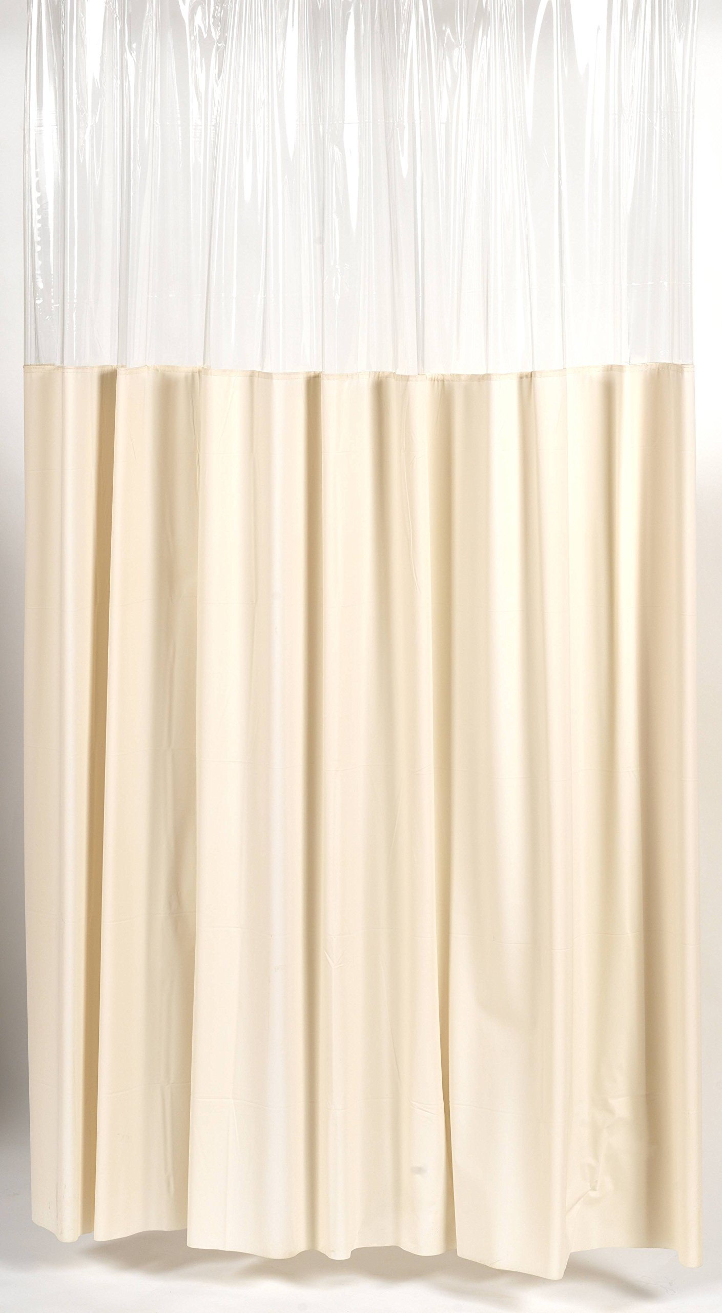 Royal Bath Extra Heavy 10 Gauge Stall Sized Window Vinyl Shower Curtain Liner with Metal Grommets (54'' x 78'') - Ivory