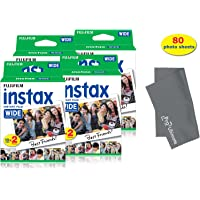 Fujifilm Instax Wide Instant Film for Fuji Instax Wide 210 200 100 300 Instant Photo Camera+ Fiber Micro PRO ULTIMATE Cloth (80 Photo Sheets)