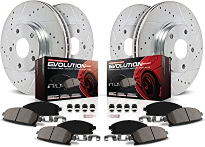Power Stop K6083 Front & Rear Brake Kit