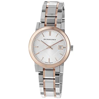 design de qualité 924c5 011ce Burberry Women's BU9105 Large Check Two Tone Stainless Steel Bracelet Watch