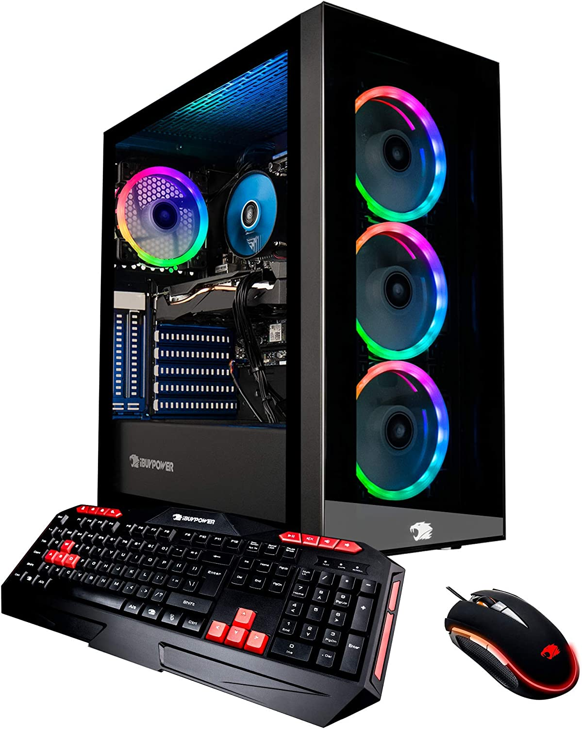 iBUYPOWER Gaming PC Computer Desktop Element 9260 (Intel Core i7-9700F 3.0Ghz, NVIDIA GeForce GTX 1660 Ti 6GB, 16GB DDR4, 240GB SSD, 1TB HDD, WiFi & Windows 10 Home) Black