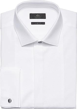 next Hombre Camisa De Vestir Tapeta Oculta con Botones ...