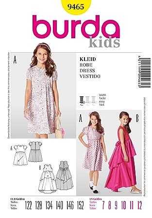 Burda Schnittmuster Children\'s Easy Schnittmuster, Kleider, 9465 ...
