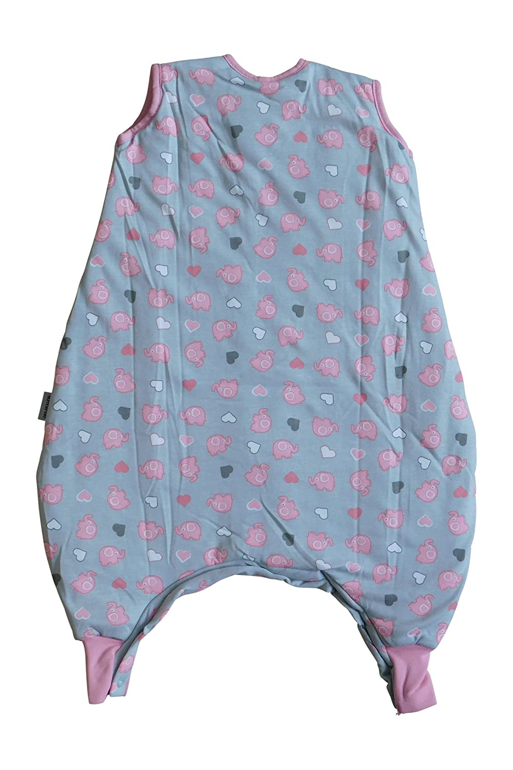 Slumbersac Standard Standard Sleeping Bag with Feet and Poppers 2.5 Tog 6-12 months//70cm Simply Zoo Animals