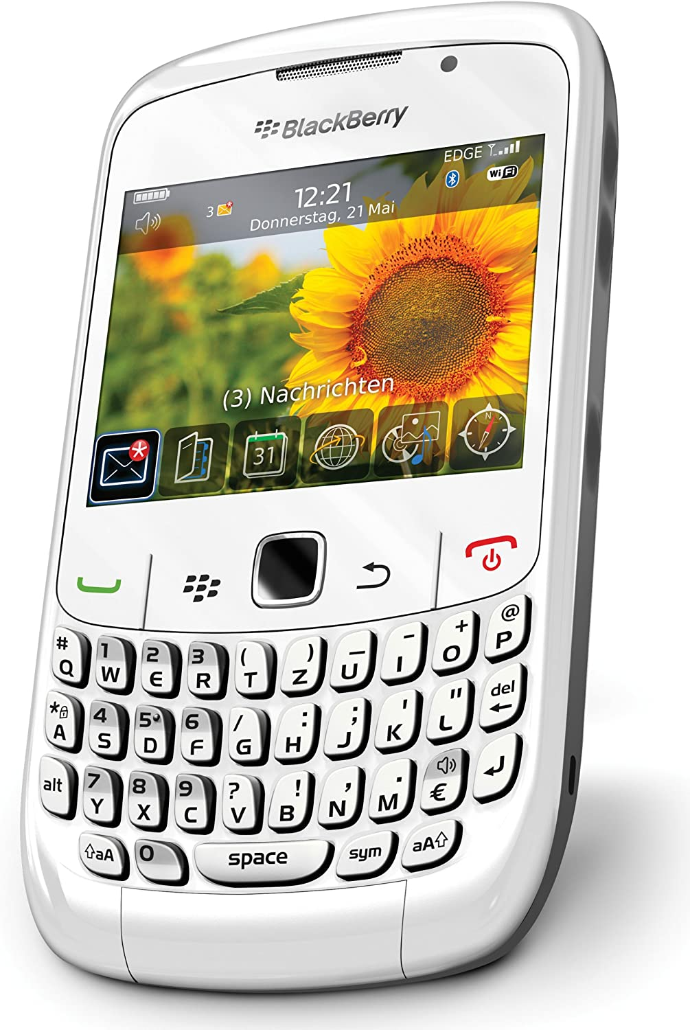 Blackberry Curve 8520 Smartphone Tastiera Qwertz Colore Bianco Importato Da Germania Amazon It Elettronica