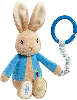 Personalised peter rabbit baby bib keepsake beautifully peter rabbit attachable toy negle Choice Image
