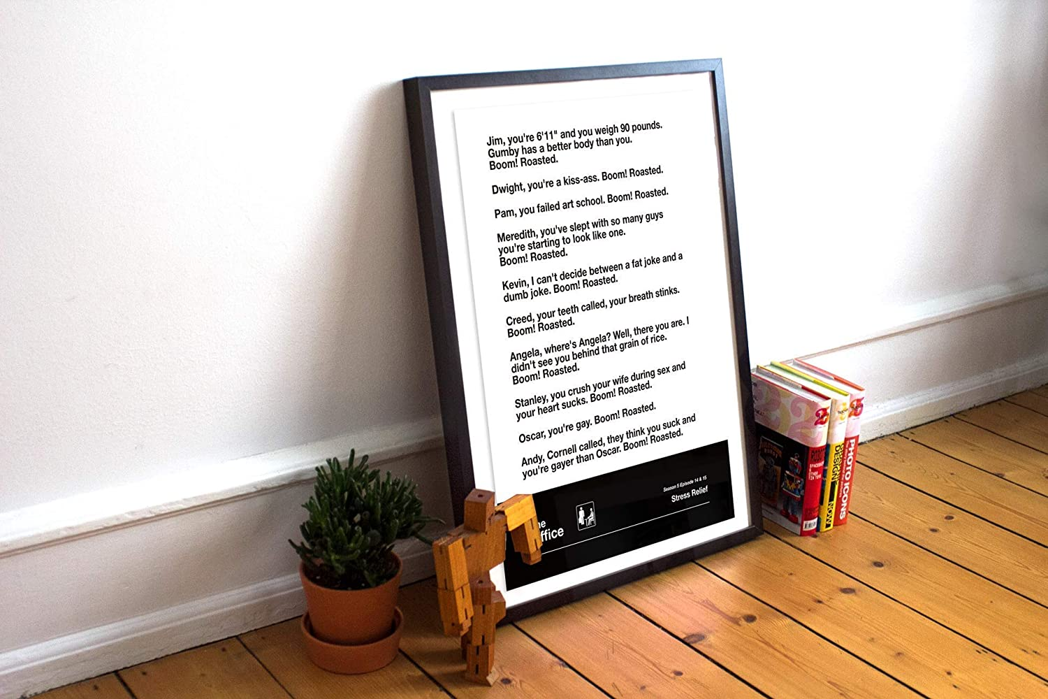 unframed Boom Roasted The Office Poster