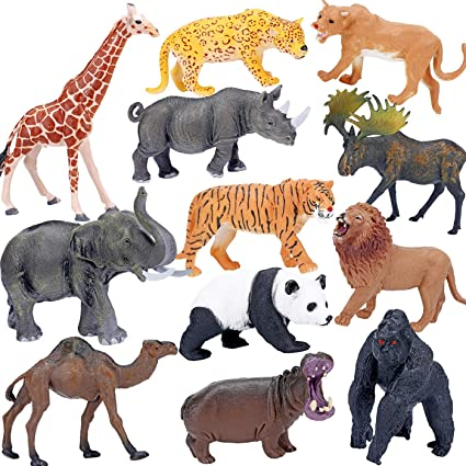 Miniature Lifelike Mini Wild Animals Figures Models for Kids Educational Toy